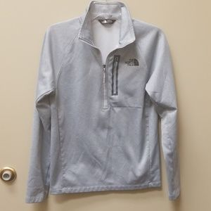 The North Face 1/4 Zip Gray Pullover